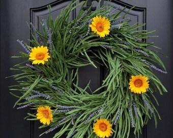 Sunflower Wreaths, Sunflowers, Field of Flowers, Sunflower Fields, Lavender Fields, Fields of Lavender, Wreath Inspiration, Lavender Wreath