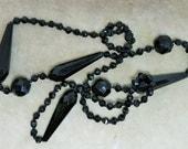 A Black Jet Beaded Necklace