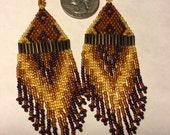 Beaded Earrings, Fall Colors