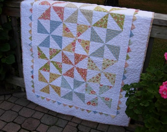 California Girl Baby Pinwheel Quilt,