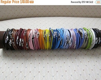 ON SALE Colored Leather Wrap Bracelet(s)...(2MM)-4X