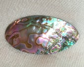Beautiful Irridescent Green Abalone Hand made Hair Barrette