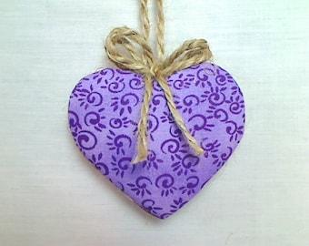 Purple Heart Ornament | Valentines Day | Spring Decor | Party Favor | Birthday | Tree Ornament | Holidays | Decoration | Handmade | #2