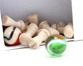 DIY Mini Mushroom Bowling - Tiny Wood Bowling Set - IN STOCK