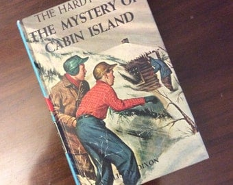 vintage children book... HARDY BOYS The MYSTERY of Cabin Island No 8 c 1966 hardcover Book ...