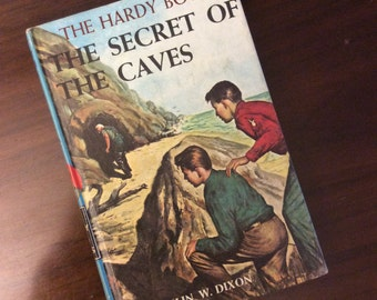 vintage children book... HARDY BOYS The SECRET of the Caves  No 7 c 1964 hardcover Book ...