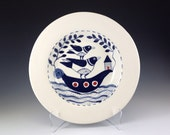 Blue and white Pasta Bowl, Home and Living, Pottery, Ceramics, Tableware, Dinnerware