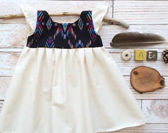 Boho baby one year old girl birthday outfit clothes aztec boho baby organic hippy baby hippie baby bohemian baby first birthday party dress