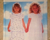 Butterick 4899 Size 4, 5, 6 Toddler and Girl's Dress, Slip and Headband Pattern UNCUT