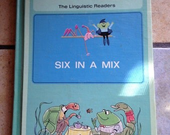 1965 Six in a Mix Children's Reading Book by Harper and Row