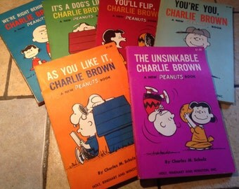 Collection of 6 Charlie Brown Books