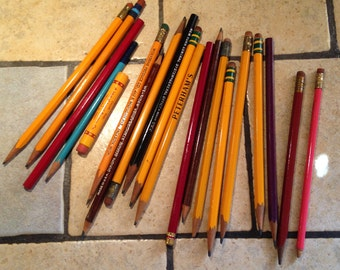 Antique Wooden Case Pencils (8)