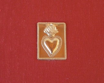 Photo album -Santa Fe destination wedding album - terra cotta with heart milagro -6x8in.-50 page - Ready to ship