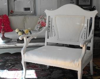 shabby chic Prairie  farmhouse style vintage chair romantic