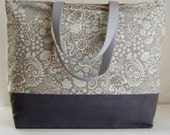 Jenn Porcelain XL Extra Large Beach Bag / BIG Tote Bag - Ready to Ship