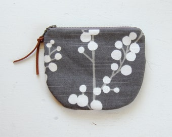 Evelynne Padded Round Zipper Pouch / Coin Purse / Gadget / Cosmetic Bag - READY TO SHIP