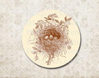 Bird Nest Envelope Seals Stickers Wedding Party Favor Treat Bag Sticker SP013
