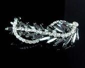 "Vintage Cascading Brooch HUGE statement piece Dramatic dimensional sparkling ribbon navettes 3 1/2"""