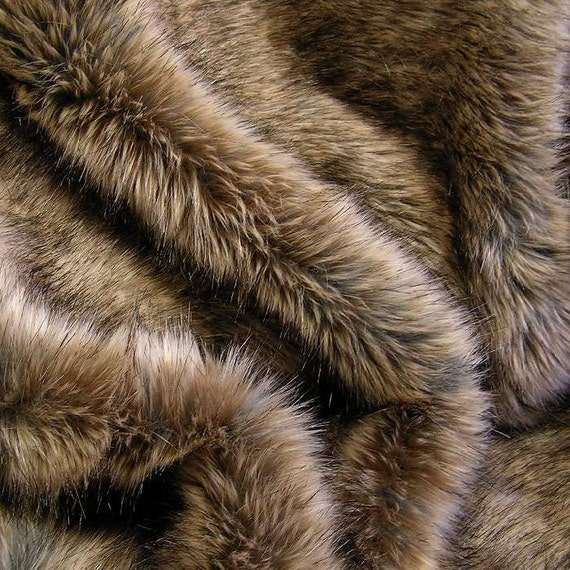FUR SAMPLE: RABBIT Fur Brown Faux Fur Luxury Faux By
