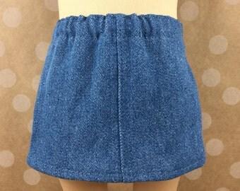 "Fits American Girl AG 18"" Doll Clothes Skirt Blue Denim"