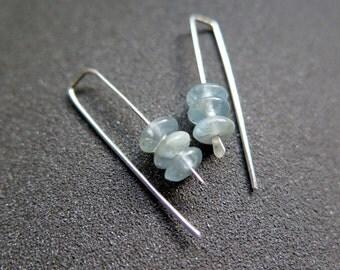 kyanite earrings. sky blue stone jewelry. Canadian seller