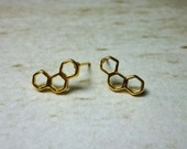 Honeycomb Stud Earrings, Dainty Earrings