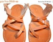 20% OFF Caramel Triple Leather Sandals for Men & Women