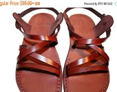 20% OFF Brown Star Leather Sandals for Men & Women - Handmade Sandals, Leather Flats, Leather Flip Flops, Unisex Sandals, Brown Leather Sand