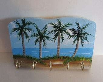 Palm Tree *** Beach Scene**** Key Rack- Key Holder