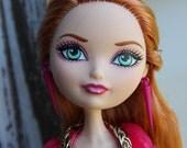 Pink Spike Earrings for Fashion Dolls 1/6th Scale Petite Slimline 18 inch BJD Monster Fairytale