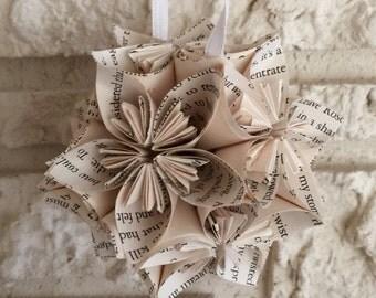 Twilight Book Small Paper Flower Pomander Ornament