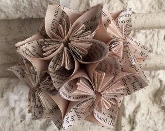 Romeo & Juliet Book Small Paper Flower Pomander Ornament