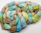 MERINO SOYBEAN hand painted combed top roving Spinning fibre 100g Mermaid