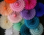 Tissue Paper Cut Out Fan / Wedding decorations / Backdrop decor / Birthday Party fans / Photo Prop decor / Festive fans / decorative fan