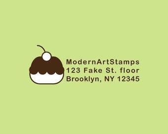 Custom Rubber Stamp   Custom Stamp   Return Address Stamp   Custom Address Stamp   Personalized Stamp   Cupcake Stamp   C132