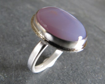 Ring of Rare Holley Blue Agate in Sterling Silver Size 8