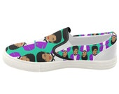 PRINCE aka the ARTIST FORMERLY know as women's slip on shoes... original illustration