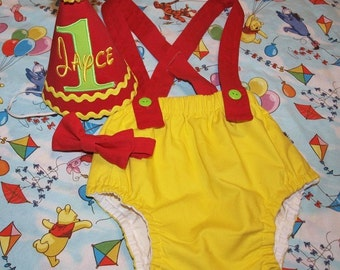 Winnie the Pooh inspired Smash Cake Outfit