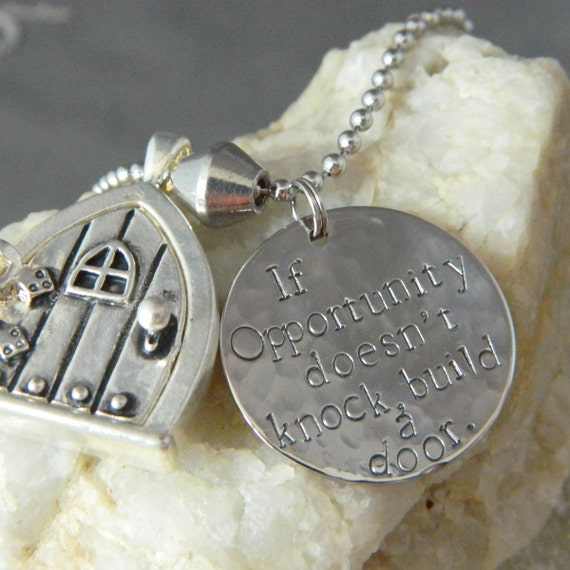 If Opportunity Doesn't Knock, Build a Door Necklace with Silver Door