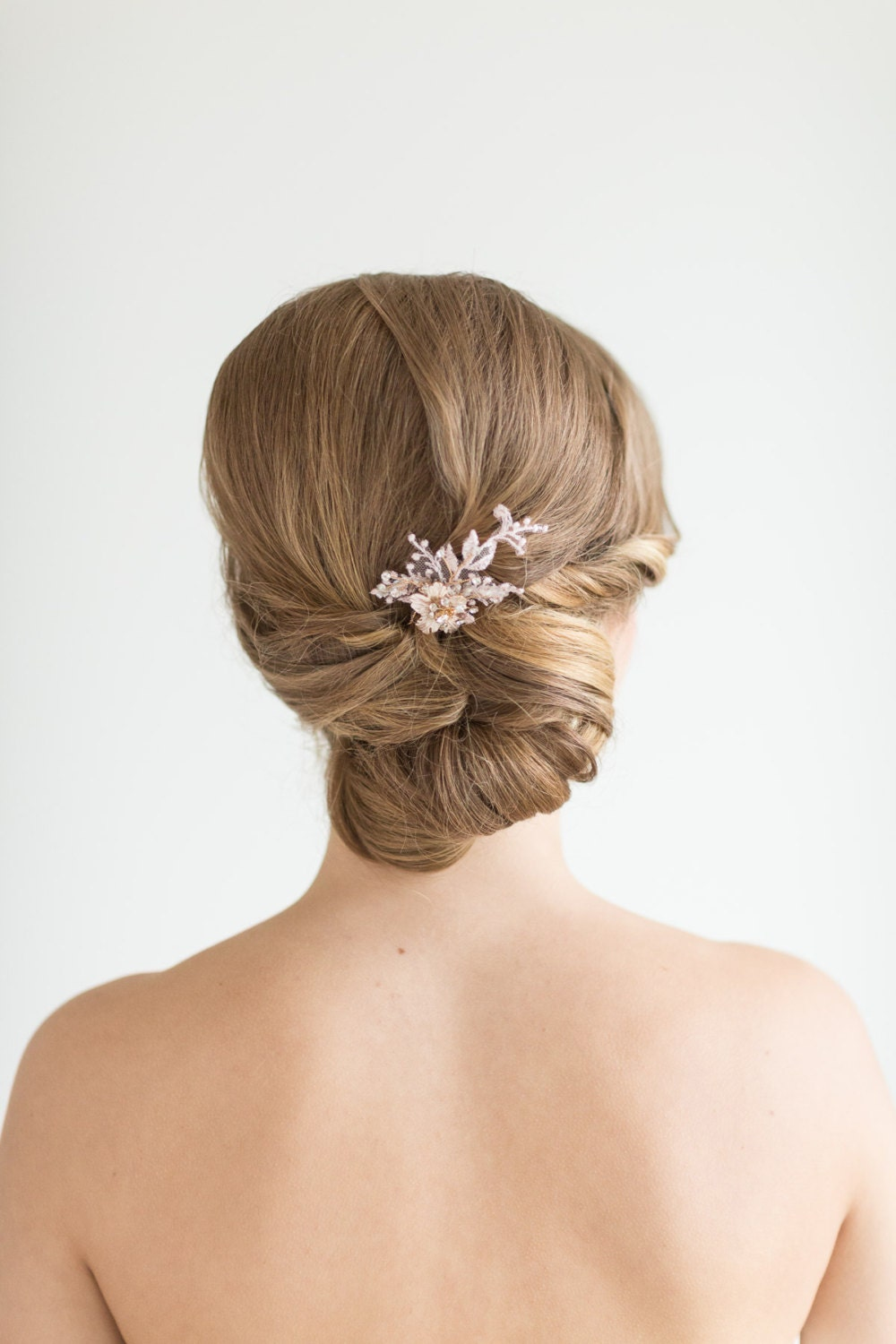 Bridal hair with pins : Wedding hair bridal flower