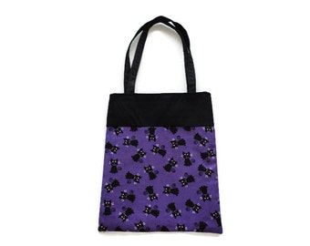 Handmade Fabric Cat Gift/Goodie Bags - Cats