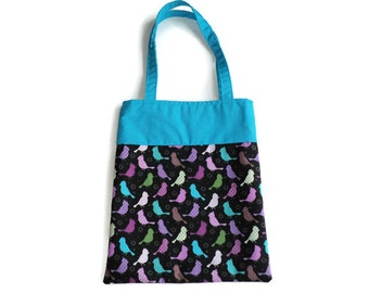 Small Fabric Bird Gift/Goodie Bag - Birds