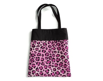 Pink Leopard Print Gift Bag - Goodie Bag - Mini Tote - Lot of 10