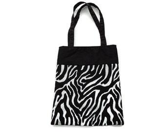 Fabric Zebra Gift/Goodie Bags - Zebra Print