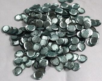 100 Light Blue Color/ Oval Sequins/Metallic Texture/ KBRS585