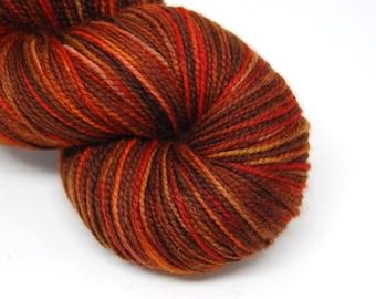 """Acoustic Sock Yarn - """"Fireside"""" - Handpainted Superwash Merino - 400 Yards"""