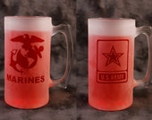 Army or Marines  26 oz mug stein