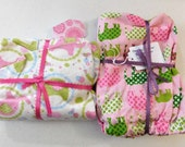 Set of 2 Changing Pad Covers  Pink Elephants   2 for 10   Bassinet Sheet   Diaper Baby Nursery Shower Gift