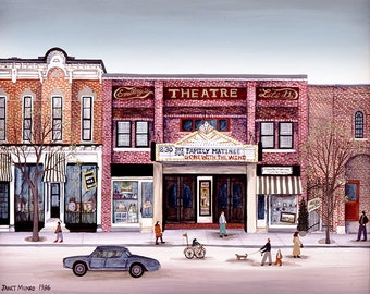 Smalley's Theater - Cooperstown, N.Y. - Limited Edition Print _ by J.L. Munro