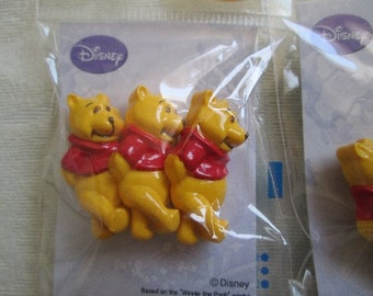Disney Winnie The Pooh Sew-On Buttons, Pack of 3pc